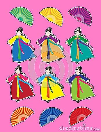 Korean dancer stickers
