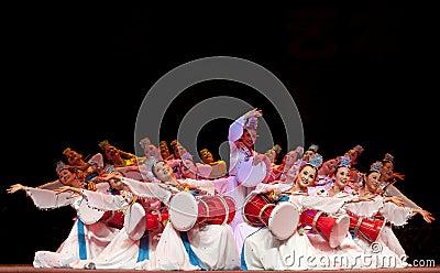 Korean ethnic dance Editorial Photo