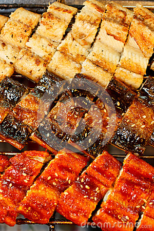 Free Korean Grilled Eel In 3 Styles Royalty Free Stock Photo - 24651345