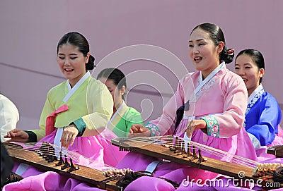 Korean Julsori Chorus  performance Editorial Stock Photo
