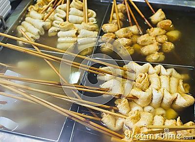 Korean local food fish cake royalty free stock for Korean fish cake