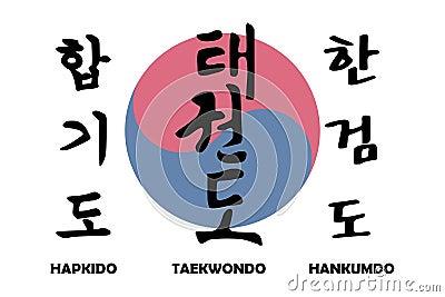 Korean martial arts with korean yin yang