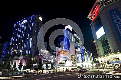 Korean street at night Editorial Photo