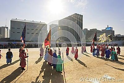 Korean-style costume breakdown soldiers Editorial Photo