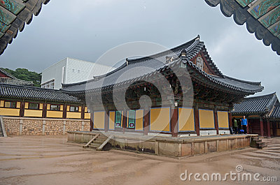 Korean Temple Editorial Stock Image