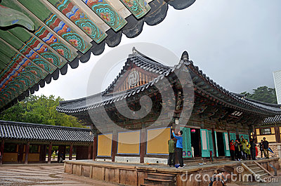 Korean Temple Editorial Stock Photo