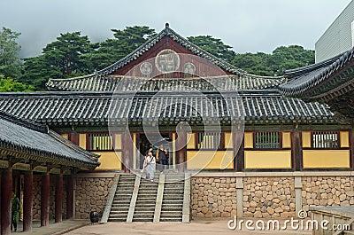 Korean Temple Editorial Stock Image