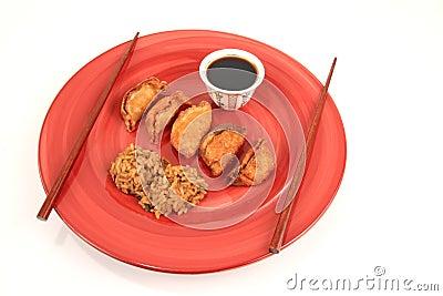 Korean vegetable rolls