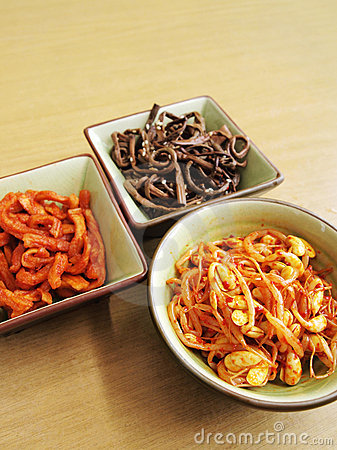 Korean vegetables pickled salad