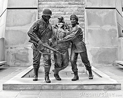 Korean War Memorial Editorial Photography