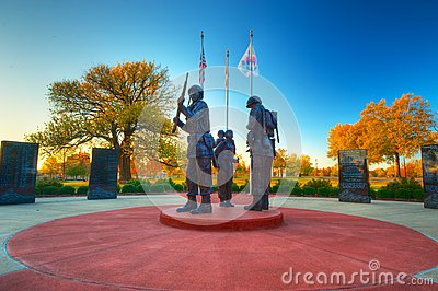 Korean War Memorial Editorial Image