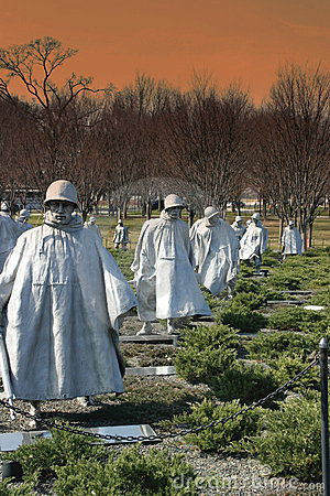Korean War Memorial Editorial Stock Photo