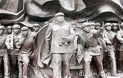 Korean War Memorial statues Editorial Photo