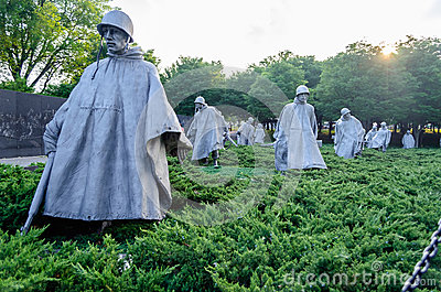 Korean War Memorial, Washington DC Editorial Photo