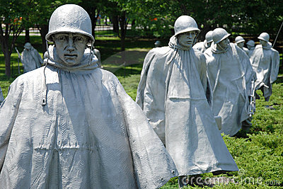 Korean war veterans memorial in Washington DC Editorial Photo