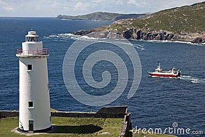 Korkowy okręg administracyjny Ireland latarni morskiej biel