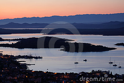 Kornati Islands at sunset