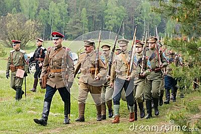 Kornilovs hiking squad Editorial Photo