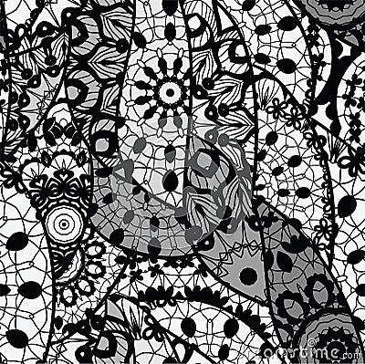 Koronkowej wektorowej tkaniny bezszwowy wzór