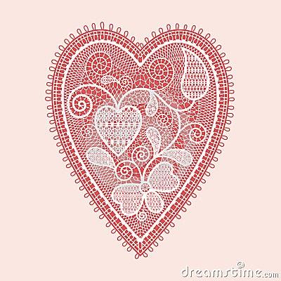 Koronkowy serce