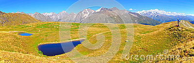 Koruldi Lakes panorama, Svaneti Georgia