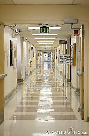 Korytarz do szpitala