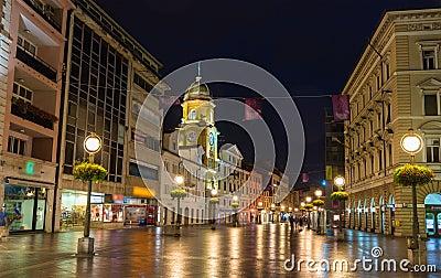 Korzo, the main street of Rijeka, Croatia