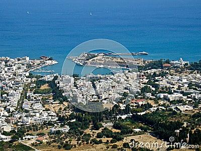 Kos town, aerial view