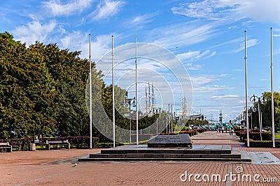 Kosciuszko Square in Gdynia, Poland.