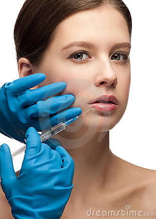 Kosmetische injectie van botox