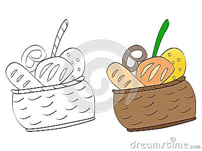 Koszykowi jedzenia