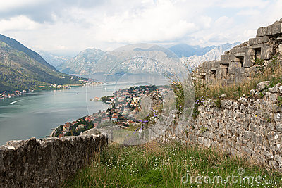 Kotor bay of Montenegro