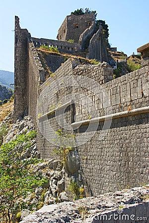 Kotor fortress ruins