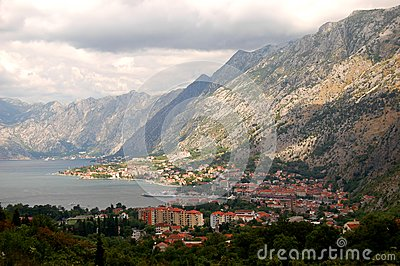 Spectacular and picturesque view on Boka Kotorska