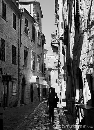 Kotor Old Town street Editorial Stock Image