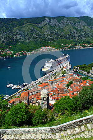 Free Kotor Port View,Montenegro Stock Image - 55231481