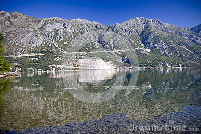 Kotorska Bay in Montenegro