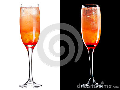 Koude alcoholische cocktail