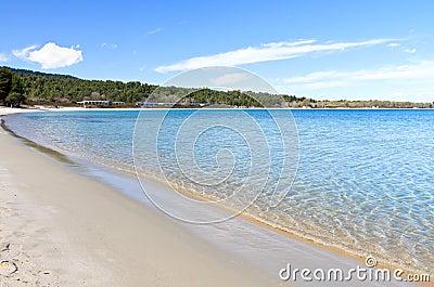 Sunny beach at Halkidiki in Greece