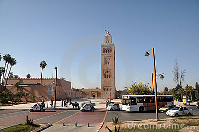 Koutoubia Mosque in Marrakesh Editorial Stock Photo