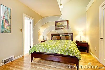 Kowej sypialni be owa br z ziele nowo ytna obraz royalty free obraz 24288976 - Deco kamer bruin ...