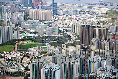 Kowloon view Editorial Stock Photo