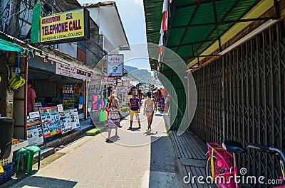 KRABI,THAILAND - APRIL 14, 2014 : The tourist visit small touris Editorial Stock Photo