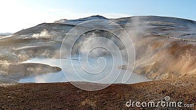 Krafla, hot spring