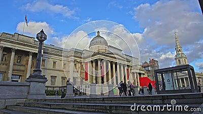 Krajowa portret galeria w Trafalgar kwadracie, Londyn, Anglia, Zjednoczone Królestwo zdjęcie wideo