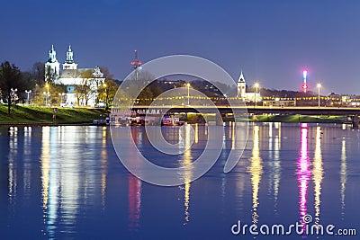 Krakow city in Poland, Europe