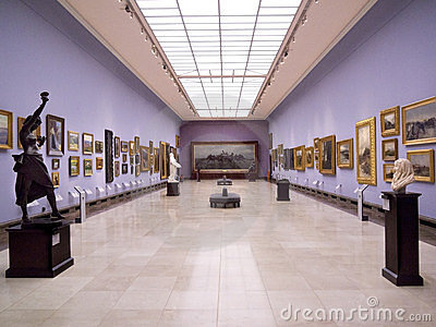 Krakow - Cloth Hall Art Gallery - Poland Editorial Stock Image