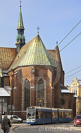 Krakow - Franciscan Church - Poland Editorial Stock Photo