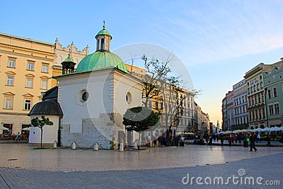 Krakow Old Town Editorial Stock Photo