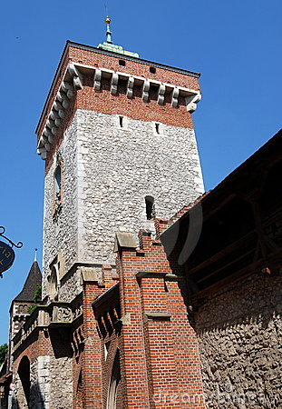 Krakow, Poland: Medieval Florian Gate